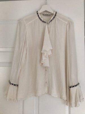 Elegante Bluse mit Perlen
