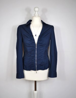 Best Connections Long Sleeve Blouse dark blue-silver-colored