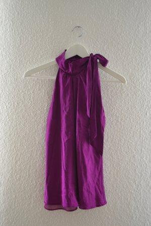 Elegante Bluse mit Schnürung am Hals aus Seide