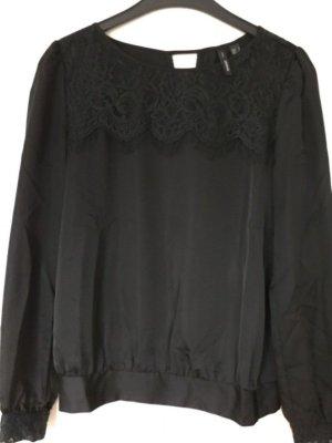Mango Long Sleeve Blouse black