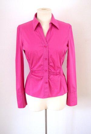 Elegante Bluse pink, preppy colourblocking blogger