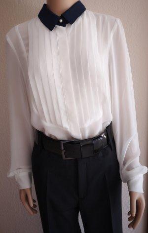 Blugirl Folies Long Sleeve Blouse white-dark blue