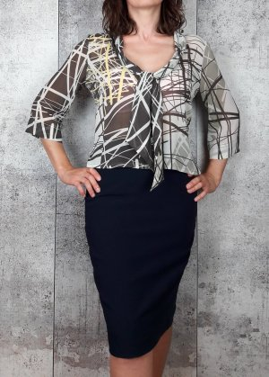 la rochelle Tie-neck Blouse multicolored polyester