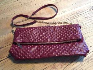 Elegante bordeaux-rote Handtasche von Benetton NEU