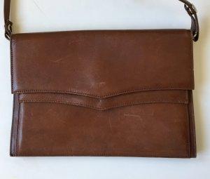 Elegante braune Handtasche mit vielen praktischen Fächern * Vintage!