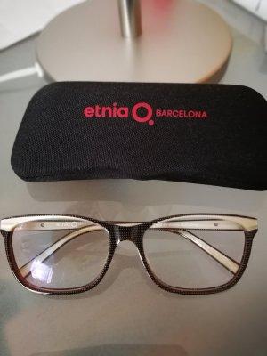 Gafas marrón grisáceo-blanco puro Material sintético
