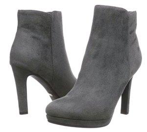 Elegante Buffalo Halbschaft-Stiefel in Grau (40)