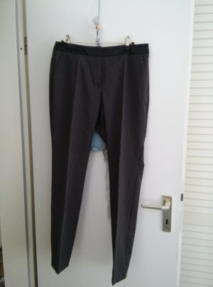 Comma Pantalon à pinces noir-gris anthracite coton