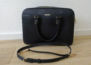 Hugo Boss Briefcase black-gold-colored leather
