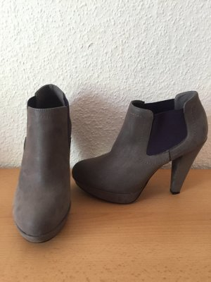 Deichmann Plateauzool laarsjes grijs-donkerpaars