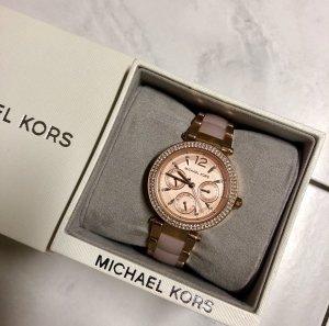 Michael Kors Montre avec bracelet métallique or rose bronze