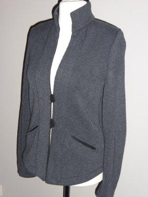 Knitted Blazer anthracite cotton