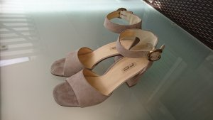 Paul Green Strapped High-Heeled Sandals sand brown-camel leather