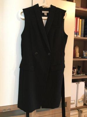Elegante doppelreihige lange Weste von H&M in schwarz NEU mit Etikett
