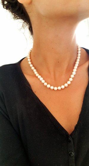 Elegante Echt Süßwasserperlenkette/ Perlencollier/ Neu mit Etikett.