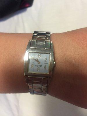 Elegante Esprit Uhr in Silber und zartblau