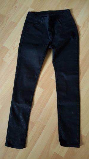 elegante Esprithose, Größe 38, schwarz-metallic