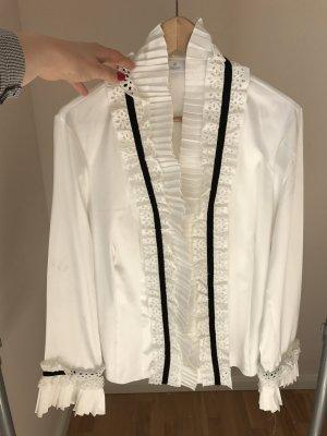 ae elegance Blusa blanco-negro