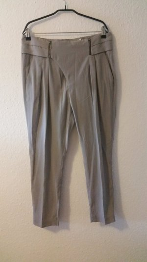Elegante graue Bügelfalten Hose