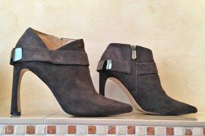 Guess Botas de tobillo gris antracita-gris oscuro Gamuza