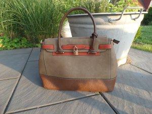 Elegante Handtasche beige /braun