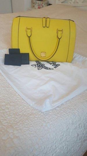 Elegante Handtasche Tasche gelb Gold elegant MCM