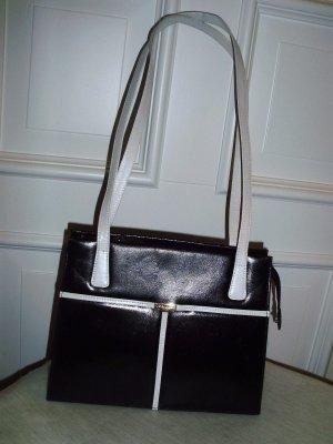 Elegante Handtasche von Peter Kaiser  Schwarz/weiss  25 cm x 20 cm- wie neu