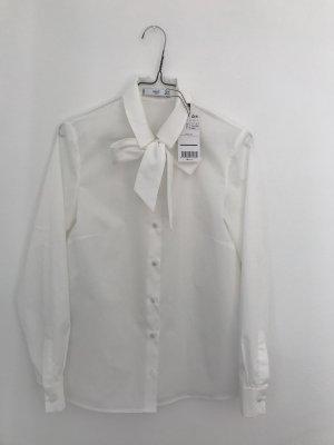 Elegante Hemdbluse mit Schleife von MANGO, XS