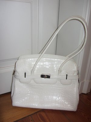 Carry Bag white leather