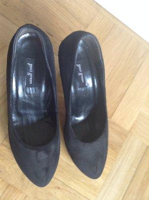 Elegante High Heels, schwarzes Wildleder, 8,5cm Absatzhöhe