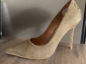 Elegante High Heels Steve Madden in Khaki neuwertig Leder