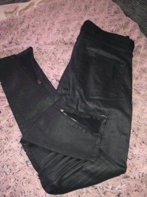 Mango Pantalón de tubo negro