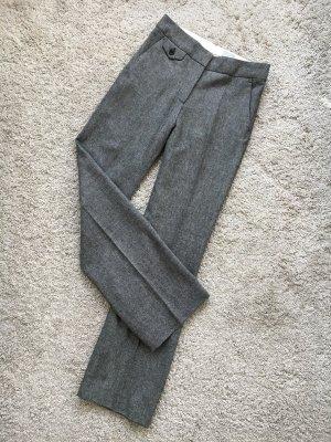 elegante Hose aus Wolle graumelliert xs