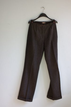 Pleated Trousers black-grey