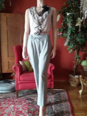 Gerry Weber Pantalon strech argenté tissu mixte