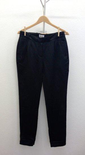 elegante Hose schwarz-glänzend, Studio Jux, 55% Hanf 45% Seide, fair-trade