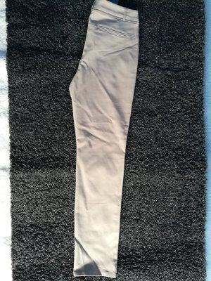 Comma pantalón de cintura baja beige Algodón