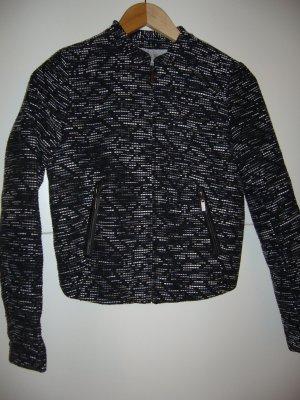 Elegante Indoor-/Outdoorjacke schwarz/grau/weiß mit Struktur H&M XS 34