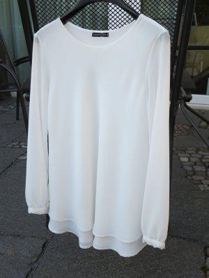 Elegante italienische schwingende weiße Bluse
