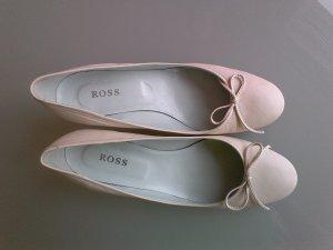 Chaussure à talons carrés blanc-blanc cassé cuir