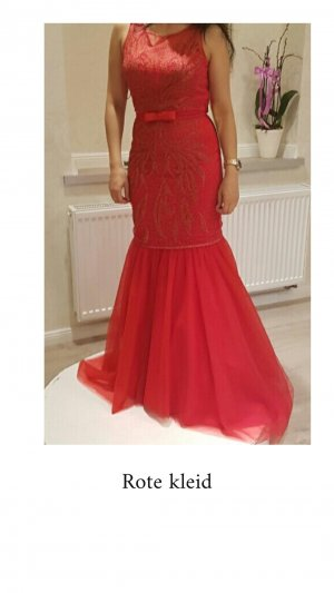 100% Fashion Evening Dress red