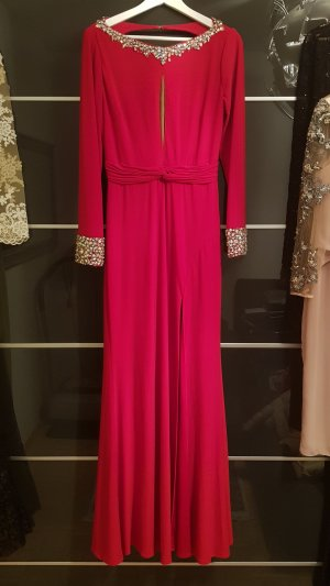 Jovani Robe de cocktail rouge brique-beige
