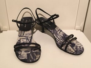 Fornarina Sandalias de tacón de tiras negro-blanco