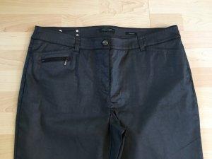 Gerry Weber Pantalon cigarette noir-argenté coton