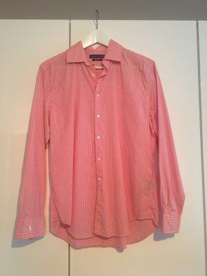 Elegante leichte Bluse von Ralph Lauren, rosa gestreift
