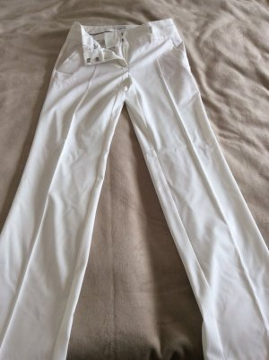 Promod Marlene Trousers natural white-cream textile fiber