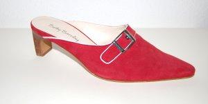 elegante Pantolette - Clog - rot von Betty Barclay - Gr. 39