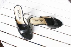 Elegante Pantoletten Paco Gil*Gr. 37,5*komplett Echtleder,schwarz