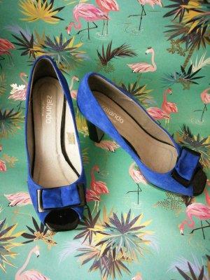 Zalando Collection Escarpins à bout ouvert noir-bleu
