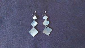 elegante Perlmutt Ohrringe - Silber